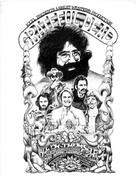 The Grateful Dead Concert Poster By Michael Priest Grateful Dead Colorong Pages