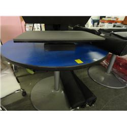 2 Blue Mica Round Tables - 2 Times the Money