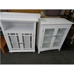 2 White 2-Door Cabinets - 2 Times the Money