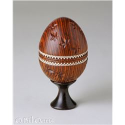 Brown and Silver Egg by Bill Ooms