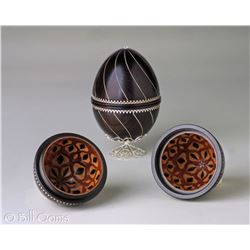 Black and Silver Egg, by Bill Ooms