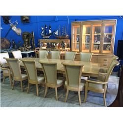 oak dining room suites   AMERICAN OF MARTINSVILLE 18PC OAK DINING ROOM SUITE; TABLE ...