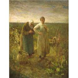 Robert McGregor RSA (Scottish, 1847-1922) THE ANGELUS signed lower left oil on canvas<br...
