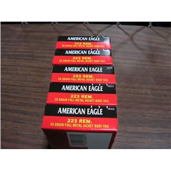 .223 Ammunition (100 rds) American Eagle (55 Gr. Boat Tail)