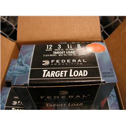 12 Gauge (250 Rounds) Federal (8 Shot, 1 1/8)