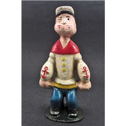 CAST IRON POPEYE THE SAILOR MAN BANK