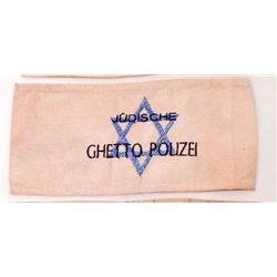 NAZI GERMAN GHETTO POLICE STAR OF DAVID ARM BAND