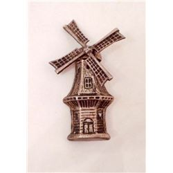 VINTAGE STERLING SILVER WIND MILL BROOCH