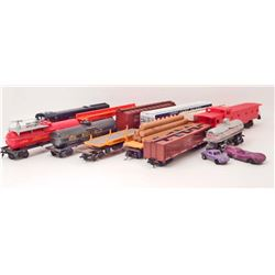 LOT OF 11 VINTAGE MISC. TOY TRAINS - ENGINE 34014