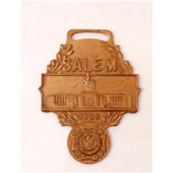 VINTAGE 1938 SALEM VETERANS WATCH FOB