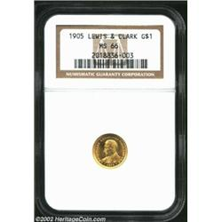1905 G$1 Lewis and Clark MS66 NGC. Our offerings of premium quality Gem '05 Lewis and Clark Gold Dol