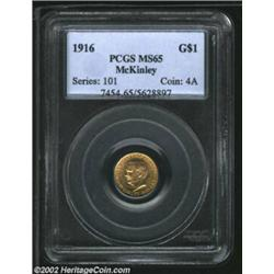 1916 G$1 McKinley MS65 PCGS. The strike is nice and the bright, lustrous surfaces essentially flawle