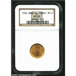 1926 $2 1/2 Sesquicentennial MS63 NGC. Only the occasional surface mark interrupts the generous lust