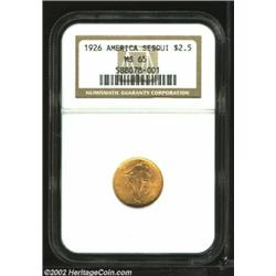 1926 $2 1/2 Sesquicentennial MS65 NGC. Every bit the Gem, this frosty, orange-gold example is uncomm