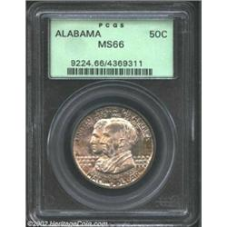 1921 50C Alabama MS66 PCGS. Wonderfully original with eye appeal to spare, this coin displays soft,.
