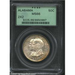 1921 50C Alabama 2x2 MS66 PCGS. This is one of the loveliest Gem quality Alabama 2x2 Halves that thi