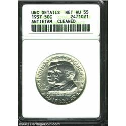 1937 50C Antietam--Cleaned--ANACS. Unc Details, Net AU55. A brilliant and lustrous Commemorative tha