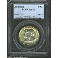 1937 50C Antietam MS66 PCGS. Mottled golden-russet toning is noted mostly on the obverse.From the Co