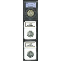 1935/34 SET Boone PDS Set MS66. The Philadelphia Mint example is certified by PCGS, while the D-mint