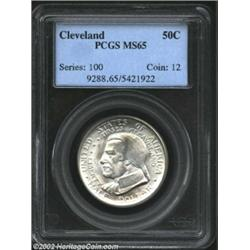1936 50C Cleveland MS65 PCGS. Richly frosted with a silver-white sheen, both sides are typically dis