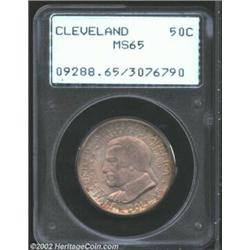 1936 50C Cleveland MS65 PCGS. The strike is average for the issue and the surfaces reveal only small