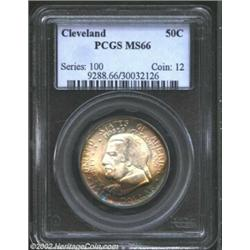 1936 50C Cleveland MS66 PCGS. Sharply struck and minimally abraded with an attractive combination of