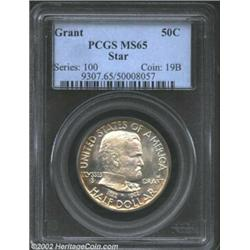 1922 50C Grant with Star MS65 PCGS. The satiny surfaces of this conditionally rare Gem are silent on