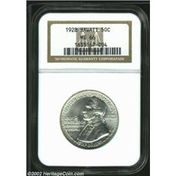 1928 50C Hawaiian MS66 NGC. Free of both toning and bothersome striking incompleteness, this coin is