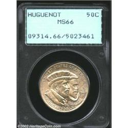 1924 50C Huguenot MS66 PCGS. Dancing luster is complimented by well struck and unadulterated devices