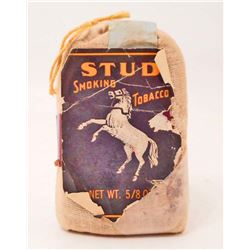 VINTAGE STUD SMOKING TOBACCO ADVERTISING POUCH
