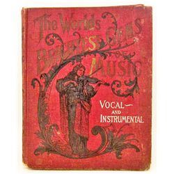 """C. 1900 """"THE WORLDS BRIGHTEST GEMS OF MUSIC"""" BOOK"""