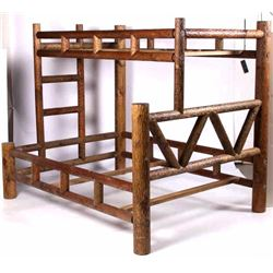 Rustic Cabin Decor Hickory Style Pine Bunk Bed