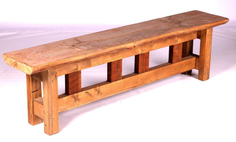 Mission Style Wooden Bench