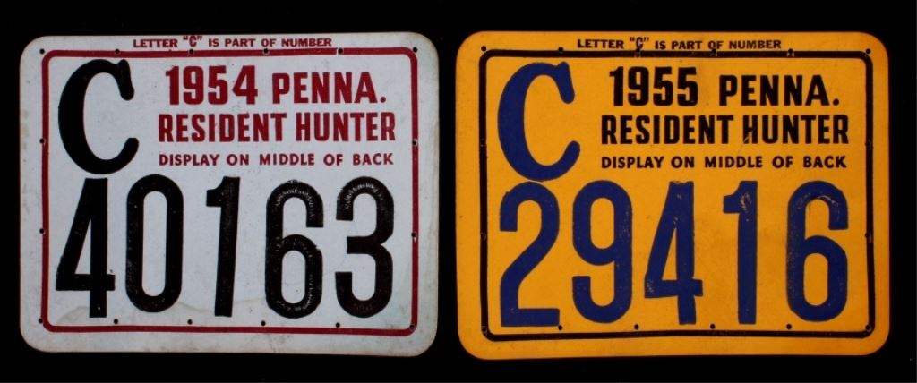 1950 39 s pennsylvania hunting license collection for Pa fishing license prices