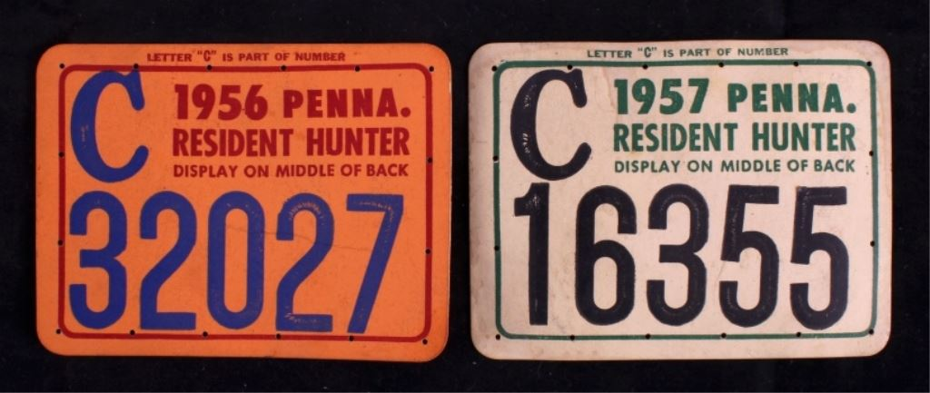 1950 39 s pennsylvania hunting license collection for Pa fishing license fees
