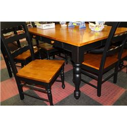 new 2 tone kitchen table w 5 chairs and 1 bench