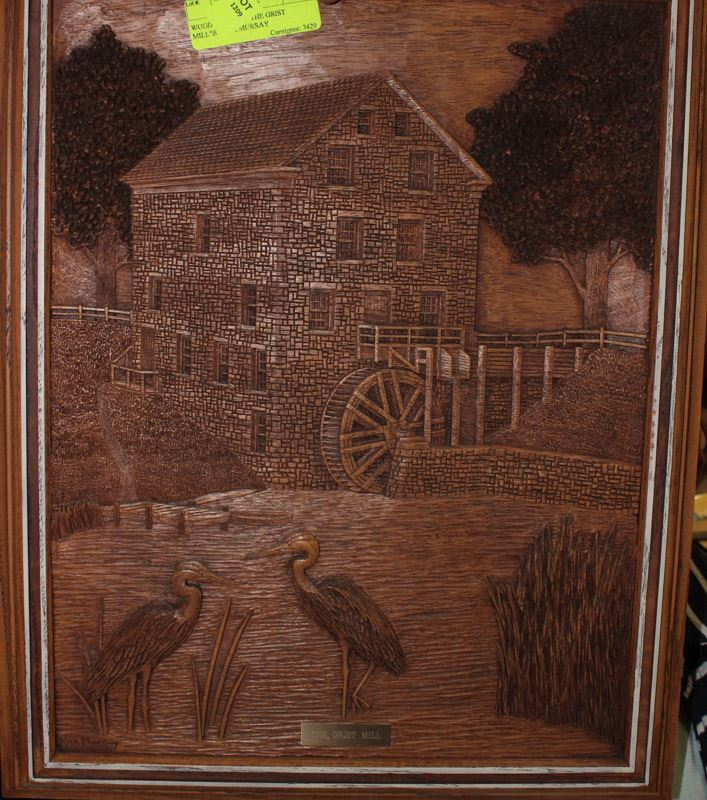 Wood carving quot the grist mill by kim murray