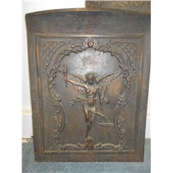 2 PC Bronze summer fireplace cover