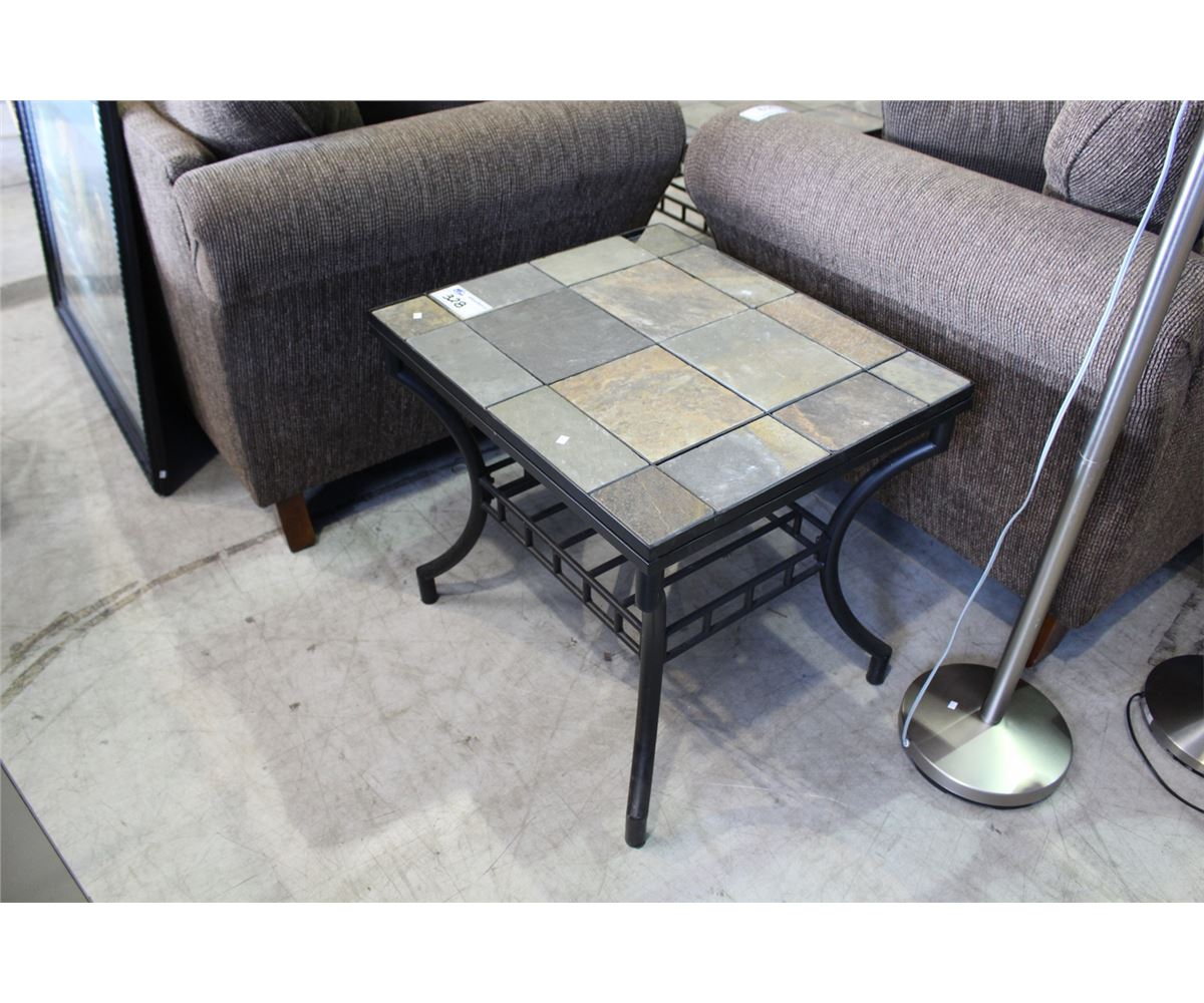 ... Image 3 : 4PC STONE TOP COFFEE TABLE SET; COFFEE TABLE, 2 END TABLES ...