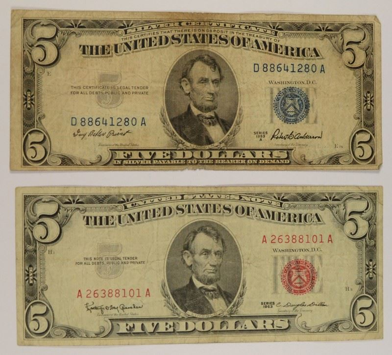 1953 5 dollar silver certificate gallery editable for Dollar certificate template