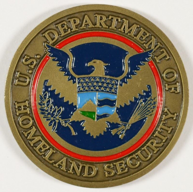 Rare Department Of Homeland Security Federal Law Enforcement