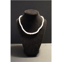 Genuine Cultured Pearl Necklace - 18 inch