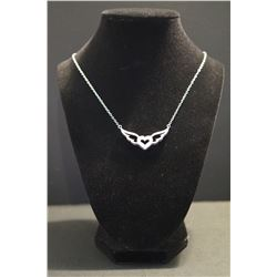 Winged Heart Diamond Necklace