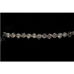 Christine Alfonso custom designed Bracelet - 36 round clear Swarovski-Crystal Elements