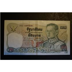 Bank of Thailand 20 Baht Note