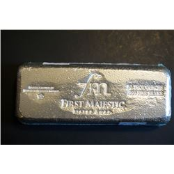 50 Troy oz .999 Pure Silver Bar (First Majestic)