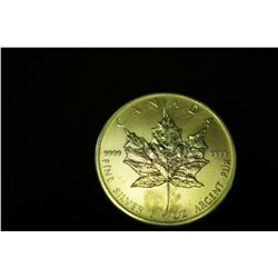 "2010 1oz  .999 Pure Silver ""Maple Leaf"" $5 Coin"