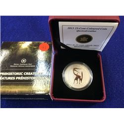 25 cents 2013 Prehistoric Creatures Series; Quetzalcoatlus in case with box and COA.