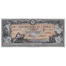 The Canadian Bank of Commerce, 75-16-04-12b, 1917, $10.00 note, Aird Logan, serial A183958, CCCS EF-