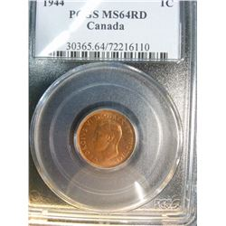 1 cent 1944 PCGS MS-64 Red.